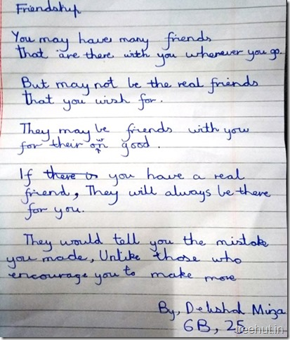 Poems by children  on friends (1)