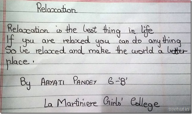 Poems by children  on relaxation (1)