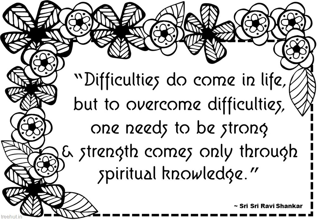 Meditation Quotes Coloring Pages by Sri Sri Ravi Shankar