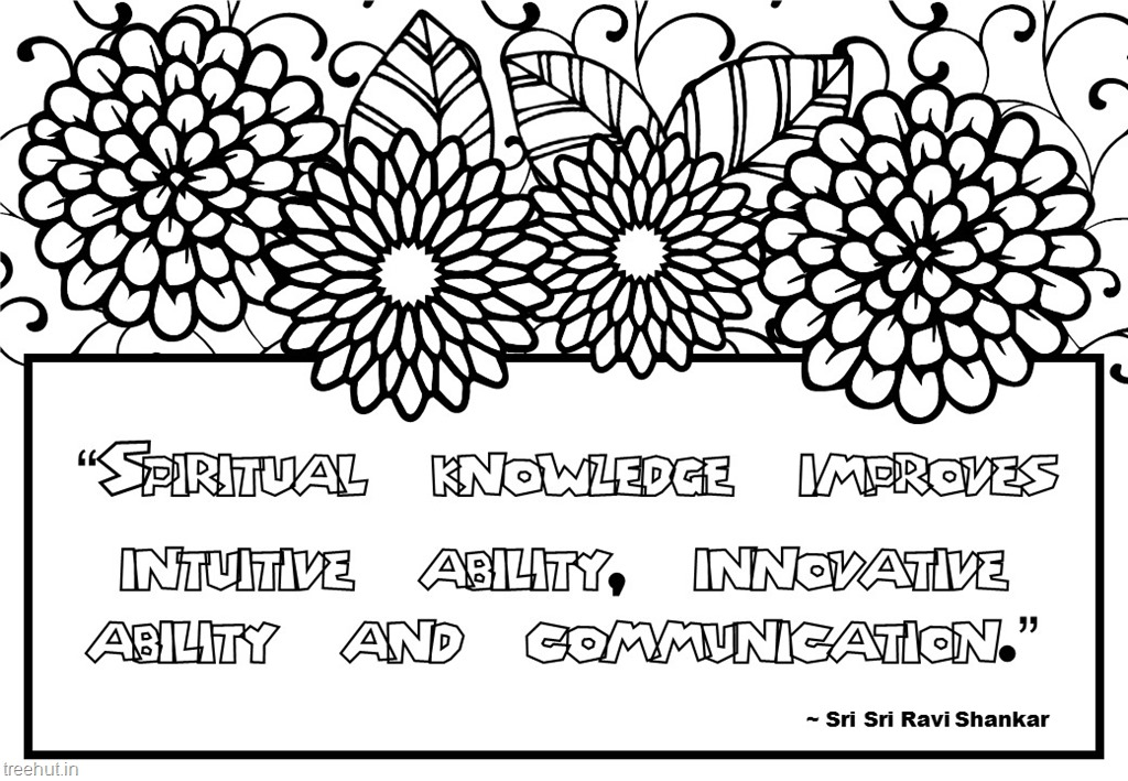 Meditation Quotes Coloring Pages