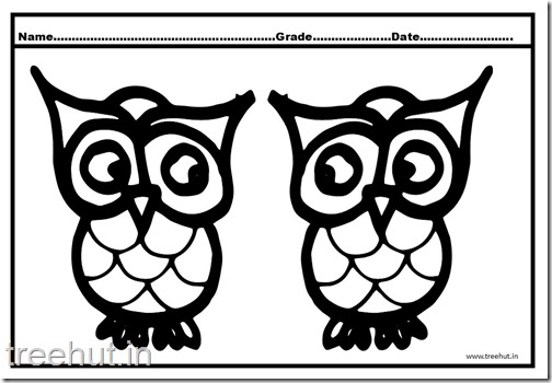 Owl, Nocturnal Birds Coloring Pages (5)
