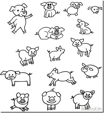Pig Coloring Sheets (1)