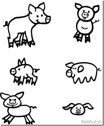 Pig Coloring Sheets (2)