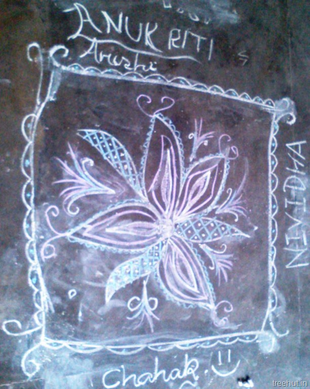 Rangoli Designs With Chalk