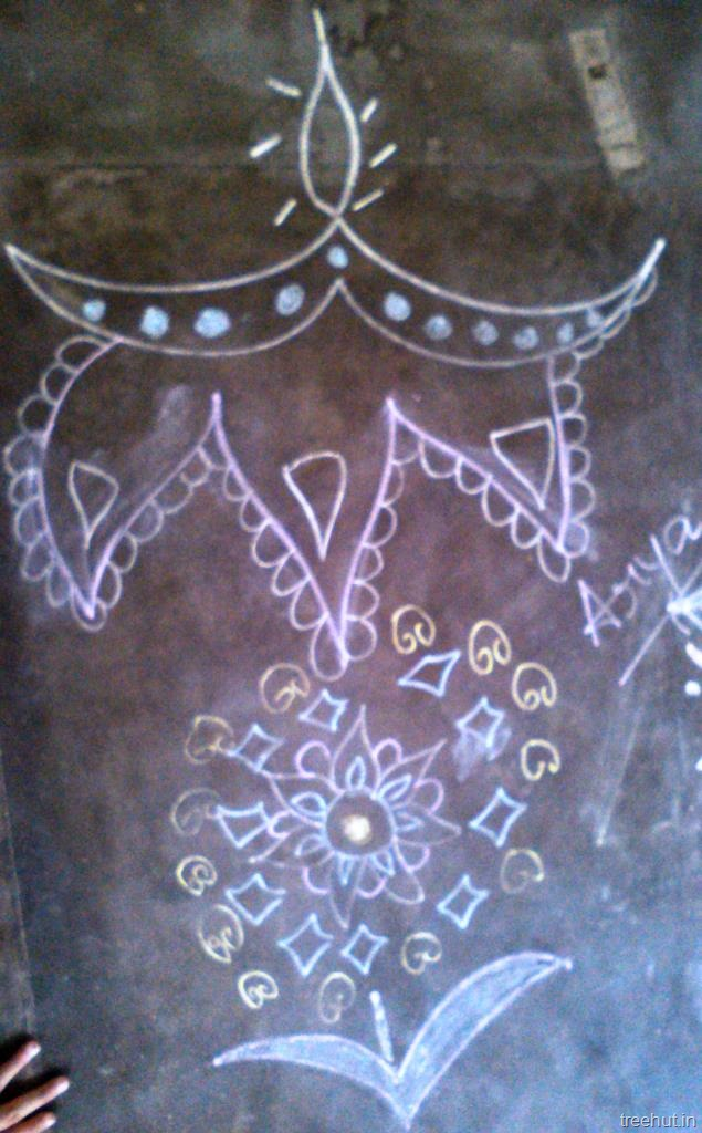Rangoli Designs With Chalk