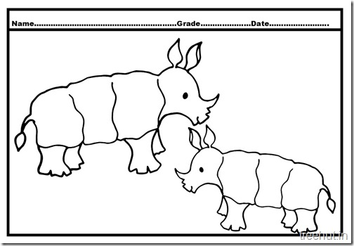 rhinoceros baby coloring page (4)
