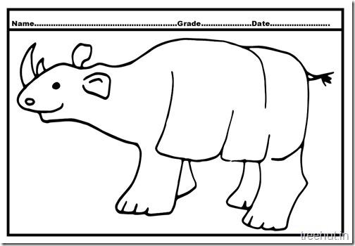 rhinoceros coloring page (1)