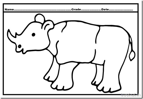 rhinoceros coloring page (2)