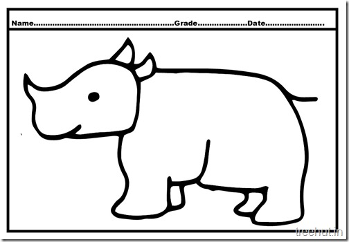 rhinoceros coloring page (3)