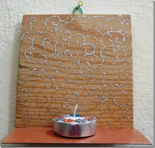 Tea Light Hanging Holders From Wood Diy Craft