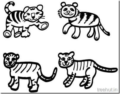 Tiger and Tiger Face Coloring Pages (3)