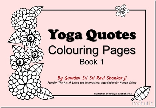 Yoga Quotes Colouring Pages 1