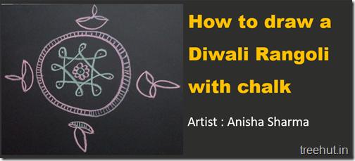 Traditional Diwali Rangoli with Chalk