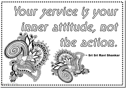Seva Quotes Coloring Pages Sri Sri Ravi Shankar (11)