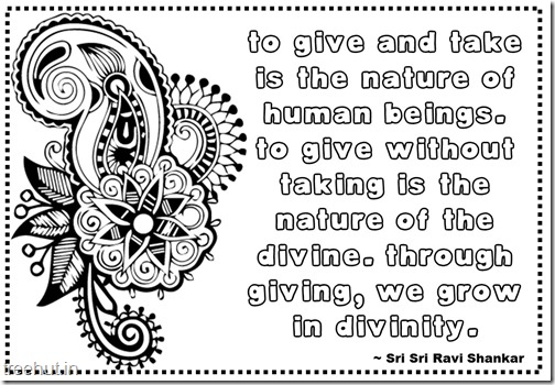 Seva Quotes Coloring Pages Sri Sri Ravi Shankar (12)