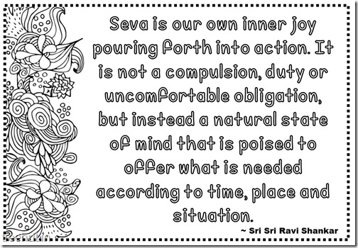 Seva Quotes Coloring Pages Sri Sri Ravi Shankar (13)