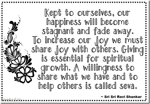 Seva Quotes Coloring Pages Sri Sri Ravi Shankar (14)