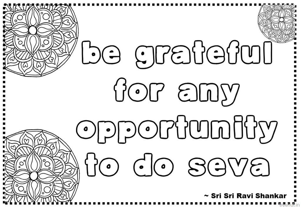 Seva or Service Quotes Coloring