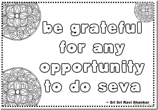 Seva Quotes Coloring Pages Sri Sri Ravi Shankar (15)