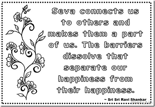 Seva Quotes Coloring Pages Sri Sri Ravi Shankar (1)