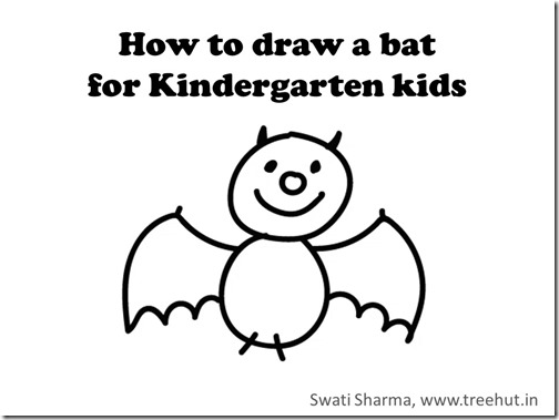 Learn to draw video, Halloween bat