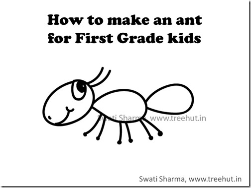Garden insect, how to draw an ant, video instructions