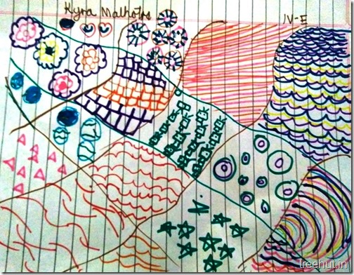 Child Art, Pattern Art by kids (6)