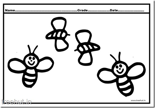 Bee Coloring Pages (1)
