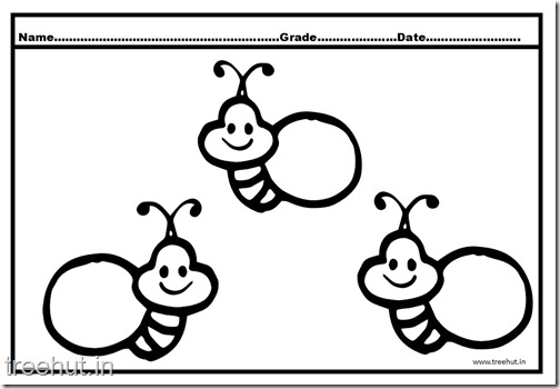 Bee Coloring Pages (3)