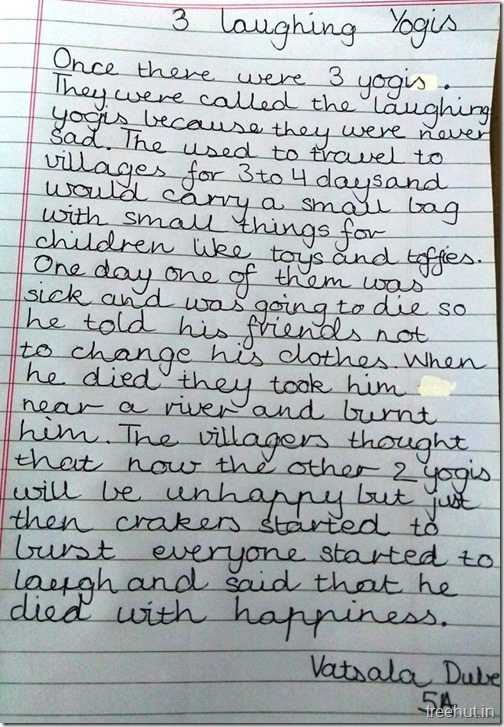 Creative writing, thoughts by children (1)