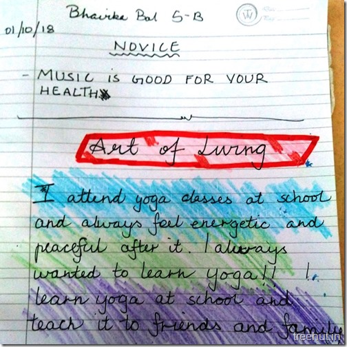 Creative writing, thoughts by children (6)
