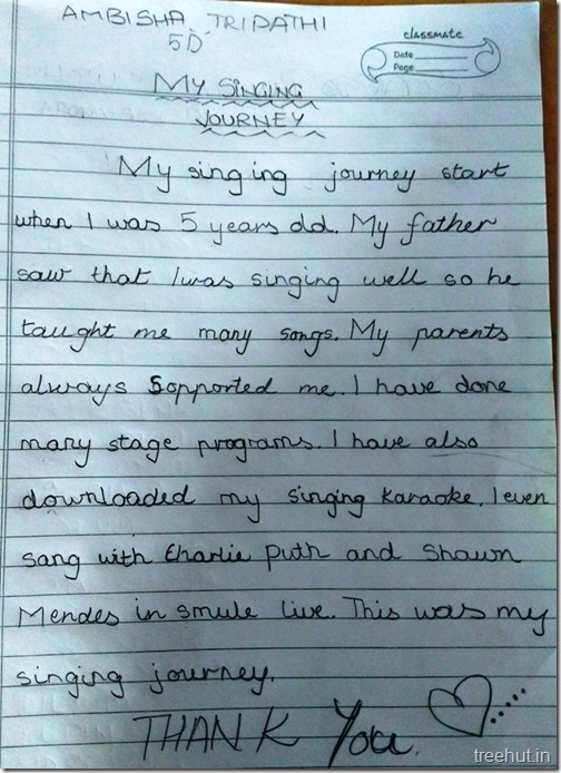 Creative writing, thoughts by children (9)