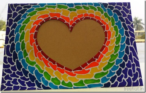 Paper Mosaic Art Heart Picture Frame (1)