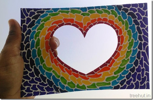 Paper Mosaic Art Heart Picture Frame (2)