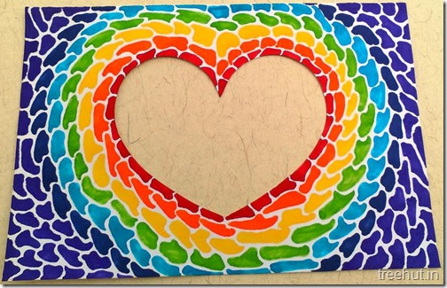 Paper Mosaic Art Heart Picture Frame (3)