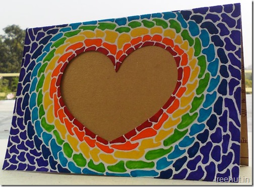 Paper Mosaic Art Heart Picture Frame (4)