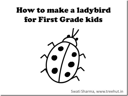 Draw an easy ladybird, video for first grade students