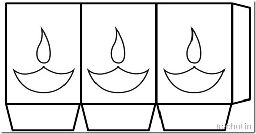 Diwali Free Printable Paper Lantern Templates  (4)