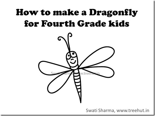 Dragonfly drawing video tutorial for kids