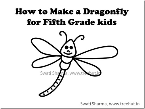 Water insects, Quick drawing of a dragonfly, Learn with video instructions