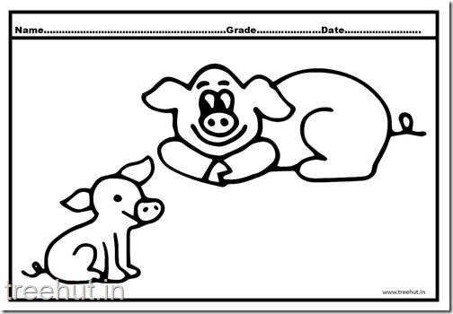 Cute Pigs Coloring Pages (1)
