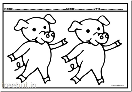 Cute Pigs Coloring Pages (2)