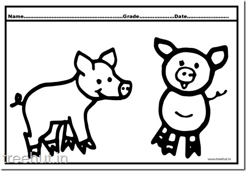 Cute Pigs Coloring Pages (3)
