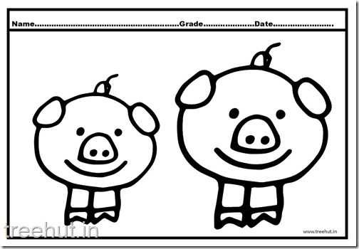 Cute Pigs Coloring Pages (5)