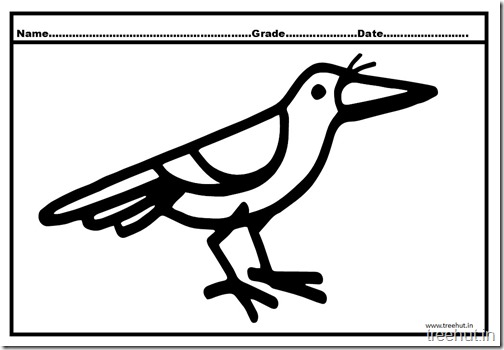 Crow Coloring Pages (2)