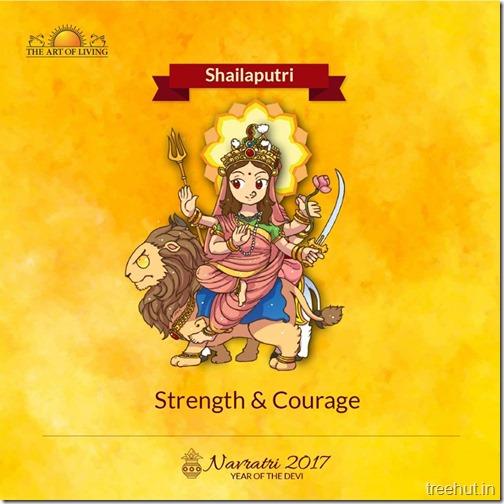 Shailputri Ma Durga form