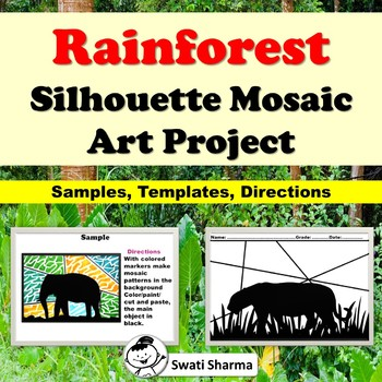 Rainforest Silhouette Mosaic Art Project