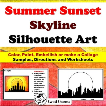 Fall, Summer,  Skyline, Cityscape, Silhouette Art, Negative and Positive Space