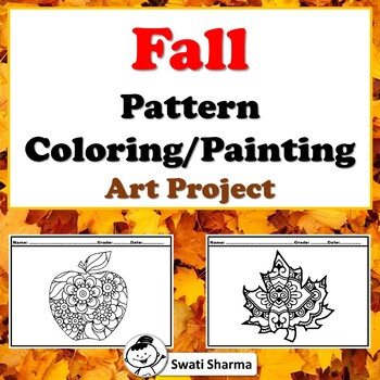 Fall Pattern Coloring, Painting Art Project