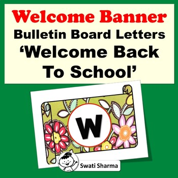 Bulletin Board Letters, Welcome Back To School